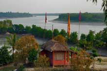 Temple and River View from Watch Tower